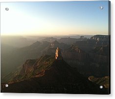North Rim Dawn Acrylic Print by Cindy Croal