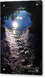 North River High Acrylic Print by Maria Scarfone