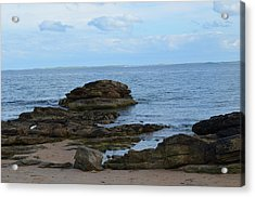 North Sea By The Rocks Acrylic Print