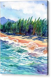 North Shore Beach 2 Acrylic Print by Marionette Taboniar