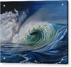 Acrylic Print featuring the painting North Shore Curl by Donna Tuten