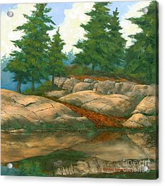 Acrylic Print featuring the painting North Shore by Michael Swanson