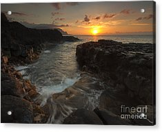 North Shore Paradise Acrylic Print by Mike  Dawson