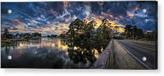 Acrylic Print featuring the photograph North Shore Sunset by Williams-Cairns Photography LLC