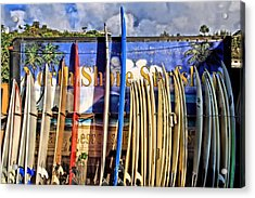 North Shore Surf Shop Acrylic Print