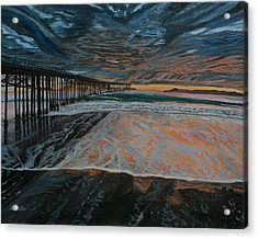 Acrylic Print featuring the painting North Side Of The Ventura Pier by Ian Donley