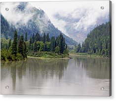 North Thompson River Acrylic Print by Janet Ashworth