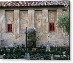 North Wall Of The Carmel Mission Acrylic Print by James B Toy