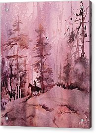 Acrylic Print featuring the painting North Woods by John  Svenson