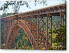 Northeast Close-up Of New River Gorge Bridge Acrylic Print by Timothy Connard