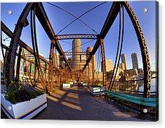 Northern Avenue Bridge Acrylic Print by Joann Vitali