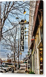 Northern Hotel Acrylic Print by Baywest Imaging