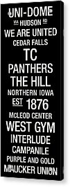 Northern Iowa College Town Wall Art Acrylic Print by Replay Photos