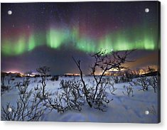 Northern Lights - Creative Editing Acrylic Print by Frank Olsen