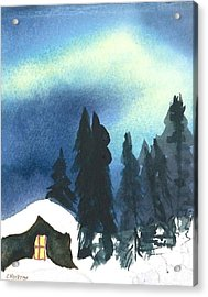 Northern Lights 2 Acrylic Print by Charlotte Hickcox