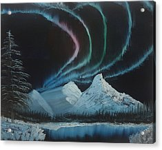 Acrylic Print featuring the painting Northern Lights by Ian Donley