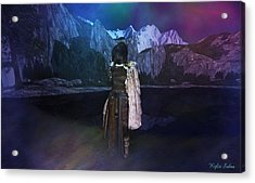 Northern Lights Acrylic Print by Kylie Sabra