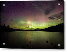 Northern Lights Over Ricker Pond Acrylic Print