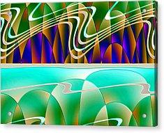 Northern Lights Acrylic Print by Raul Ugarte