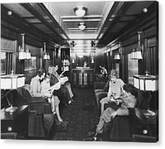 Northern Pacific Lounge Car Acrylic Print