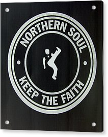 Northern Soul Dancer Inverted Acrylic Print