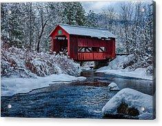 Northfield Vermont Covered Bridge Acrylic Print