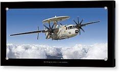Northrop Grumman E-2d Hawkeye Acrylic Print by Larry McManus