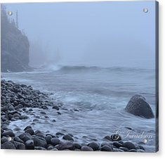 Acrylic Print featuring the photograph Northshore Fog And Waves by Gregory Israelson