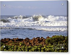 Acrylic Print featuring the photograph Northshore Surf by Gina Savage