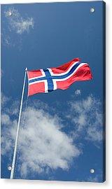 Norway, Bergen Norway Flag Acrylic Print