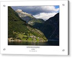 Norway Geiranger Geirangerfjord Fjord Acrylic Print