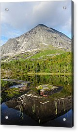 Norway Mountain Scenery Evening Light Acrylic Print by Fredrik Norrsell