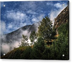 Acrylic Print featuring the photograph Norway Mountainside by Jim Hill