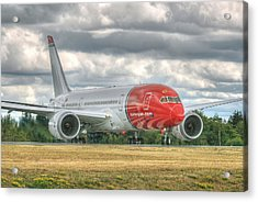 Acrylic Print featuring the photograph Norwegian 787 by Jeff Cook