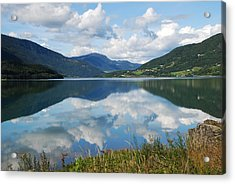 Norwegian Fjord Reflections Acrylic Print