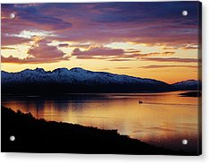 Norwegian Fjordland Sunset Acrylic Print by David Broome
