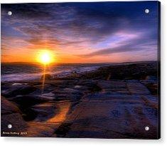 Norwegian Sunset Acrylic Print by Bruce Nutting