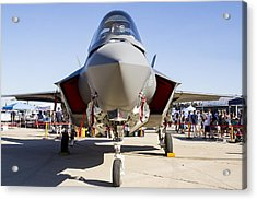Nose To Nose With An F-35 Acrylic Print