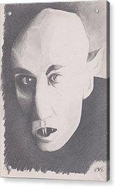 Nosferatu Acrylic Print by Crosson Nipper