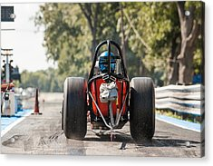Nostalgia Front Engine Dragster Burnout Acrylic Print by Todd Aaron