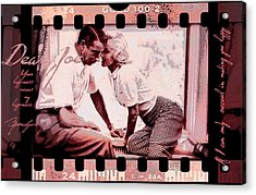Nostalgia Joe Dimaggio And Marilyn Monroe Your Happiness Means My Happiness Acrylic Print