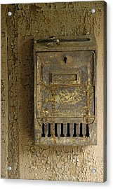 Nostalgia - Old And Rusty Mailbox Acrylic Print by Matthias Hauser