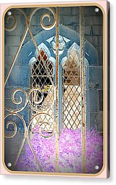 Nostalgic Church Window Acrylic Print by The Creative Minds Art and Photography