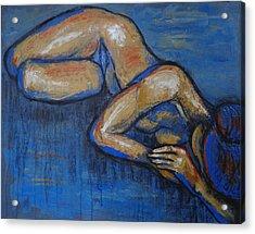 Nostalgic - Female Nude Acrylic Print by Carmen Tyrrell