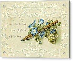 Acrylic Print featuring the digital art Nostalgic Greeting Card by Sandra Foster