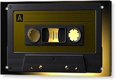 Nostalgic Macro Cassette Tape Acrylic Print by Allan Swart