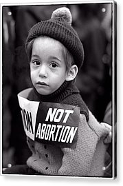 Not Abortion Acrylic Print by Hal Norman K