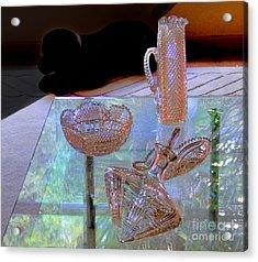 Not Depression Glass Acrylic Print by Al Bourassa