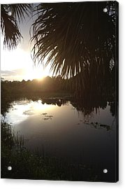 Not Quite Black And White - Sunset Acrylic Print by K Simmons Luna
