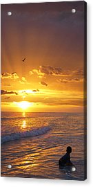Not Yet - Sunset Art By Sharon Cummings Acrylic Print
